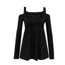 Womens Casual Long Sleeve Tops Blouses Off The Shoulder T-shirt Party Clubwear