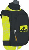 Nathan SpeedShot Plus Insulated Handheld Hydration with 12oz Bottle: Black/Yello
