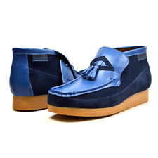 British Collection Men's Classic Leather and Suede Slip On TPR-Sole