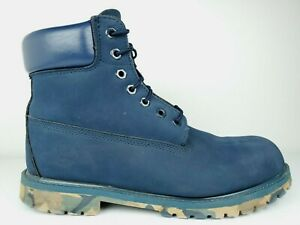 Timberland 6 Inch Premium Waterproof Boots 10061 Size 11 M Navy Blue