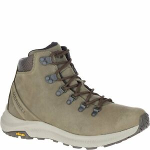 NEW MERRELL MENS ONTARIO MID HIKING BOOT LEATHER OLIVE VIBRAM J53209 FREEE SHIP