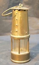 Vintage Miners Lamp Stamped Signed Protector Lamp Eccles Made in England. 12cm