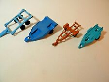 TootsieToy Lot of 4 Trailers Motorcycle Boat Atv