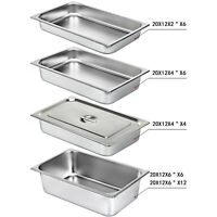 Bain Marie Tray/Steam Pan/Gastronorm 1/1 Size 65/100/150mm Deep Stainless Steel