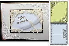 Sizzix Embossing Folders FLOURISH & POSTCARD SET 657666 Wedding Corners borders