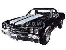1970 CHEVROLET EL CAMINO SS BLACK 1/24 DIECAST MODEL CAR BY NEW RAY 71885