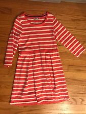 Mini Boden (Johnnie B) Red Striped Jersey sleeves Size 11-12 years Dress