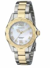 New Ladies Invicta 17871 Pro Diver 38mm Swiss Quartz Two Tone Watch