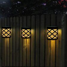 4Pc LED Luz Solar Exterior Lámpara de Pared Iluminación Para Jardín Patio Camino