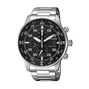 NEW Citizen Crono Aviator Men's Eco Drive Chronograph Watch - CA0690-88E