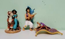 Disney Aladdin Genie Lamp Jasmine Rajah Abu Magic Carpet Ornaments Set