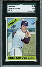 1966 Topps #562 Russ Snyder Baltimore Orioles SGC 86 NM+ 7.5