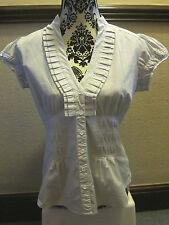 Jasper Conran (Debenhams) Grey  blouse/Top, Short Sleeves - Sz 12  - used