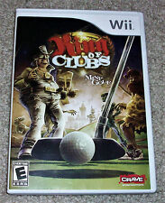KING OF CLUBS MINI GOLF VIDEO GAME~NINTENDO Wii~2008~NEW~FREE SHIPPING!