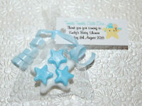 5 x TWINKLE STAR Soaps PERSONALISED Adorable Baby Shower Scented in Baby Powder