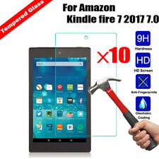 10Pcs 9H+Premium Tempered Glass Screen Protector For Amazon Kindle fire 7 HD8 10