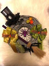 Halloween Kranz XL, Herbst Türdeko, Wanddeko, Hexen, Hexenbesen, Shabby, Vintage