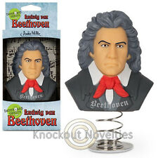 Dashboard Genius Beethoven Spring Vinyl Bust Head Fan Car Bobble Toy Ludwig