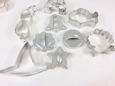 Cookie Cutter Vtg Metal Lot 9 Asst Wilton Crimp Bell Star Fish Witch Hat Circle
