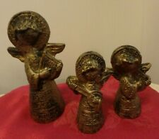 Angel Ornament, Depositato, Gold Color, Lot Of 3, Made In Italy