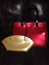 Lot Of 2 BEIJO  OVER THE MOON SHOULDER BAG HAND BAG & Red Shoulder Bag USED