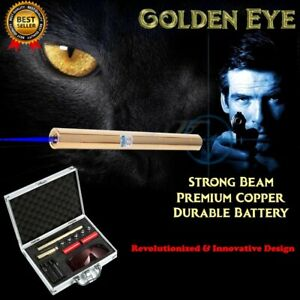 Strong Blue Laser Pointer Beam USB Visible Light  Gold Copper 532nm 10000m