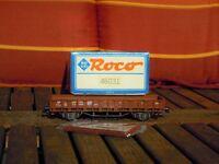 Roco 46031 Rungen-Flachwagen Rr 20 der DB Ep.3 neuwertig,OVP mit Bügelkupplungen