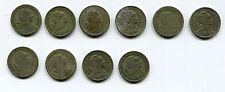 Collection of 10 Portuguese coins - 50 Escudos , various dates 1928 - 1668 VF-G