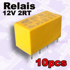 971-12/10# Relais pour circuit imprimé, 2RT , bobine de 12V -- 10 pcs relay