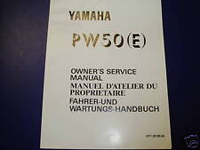 YAMAHA PW50 PW 50 E GENUINE SERVICE  MANUAL