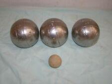 3 Boules de pétanque striées JB : triplette + cochonnet, 580g, D 72cm