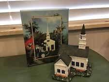 Lang & Wise Town Hall Collectibles Stonington Church #3 1998 Euc