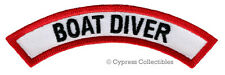 BOAT DIVER CHEVRON - SCUBA DIVING iron-on DIVE PATCH embroidered applique