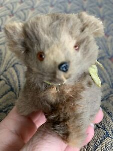 "Vintage Miniature German Bear 3""  Brown Real Fur - Tagged Germany CUTE"