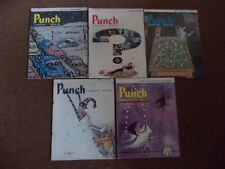 """VINTAGE """"PUNCH"""" MAGAZINES X 5, 1st, 8th, 15th, 22nd, 29th JANUARY 1964"""