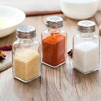 Gewürzmehl-Set Salz- und Pfefferstreuer Streuer-Shaker-Glashalter-S D*