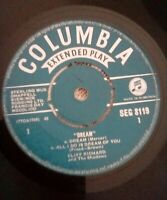 "Cliff Richard And The Shadows ‎– Dream Vinyl 7"" EP Columbia SEG 8119 1961"