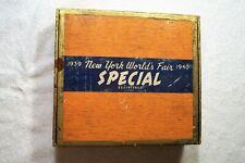 1939 New York Worlds Fair Wood Cigar Box Special