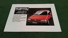 Oct 1988 / 1989 SUBARU JUSTY J10 / J12 4WD JAPANESE ENGLISH LANGUAGE BROCHURE
