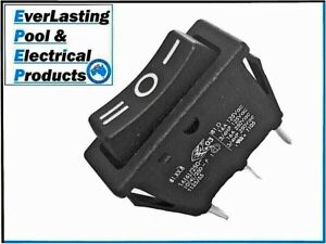 Black 3 Pin 3 Way On/Off/On Rocker Switch 16A 125VAC / 16A 250VAC