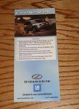 Original 2002 Oldsmobile Bravada Foldout Sales Brochure 02
