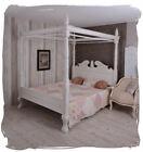 Himmelbett Ehebett shabby chic weiß Doppelbett Mahagoni Gründerzeit Bett Holz günstig