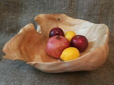 Beautiful Hand Carved Burl Wood Bowl Birch Handmade Natural