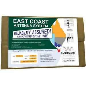EAST COAST, C4 UHF VHF Explorer RV Caravan TV Antenna / Aerial COMPLETE SYSTEM