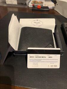 Prada Saffiano Metal Nero TU wallet