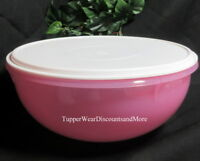 Tupperware NEW PINK Classic Serving Mixing Fix N Mix Bowl 26 Cup White SEAL