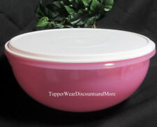 Tupperware NEW Sheer PINK Large Serving SaladFix N Mix Bowl 26 Cup White SEAL