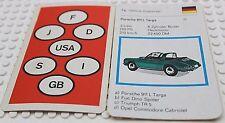 Auto Quartett Kartenspiel Einzelkarte 7 a Porsche 911 Targa