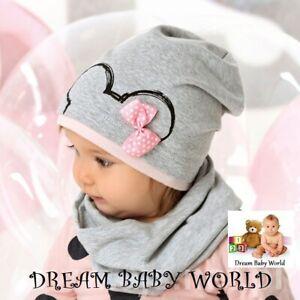 Rich cotton Baby GIRLS hats Beanie 12-24 months HAT CAP KIDS NEW BOW