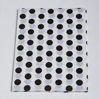"TISSUE PAPER Black Dot 20"" x 30"" 240 Sheets 1 Ream Quality Premium Wraping"